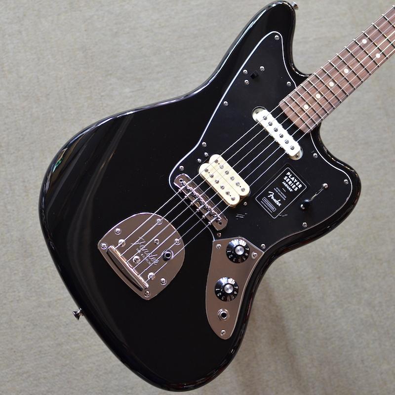 【新品】Fender Player Jaguar ~Black~ 【お取り寄せ商品】【コイルタップ】【送料無料】【池袋店】