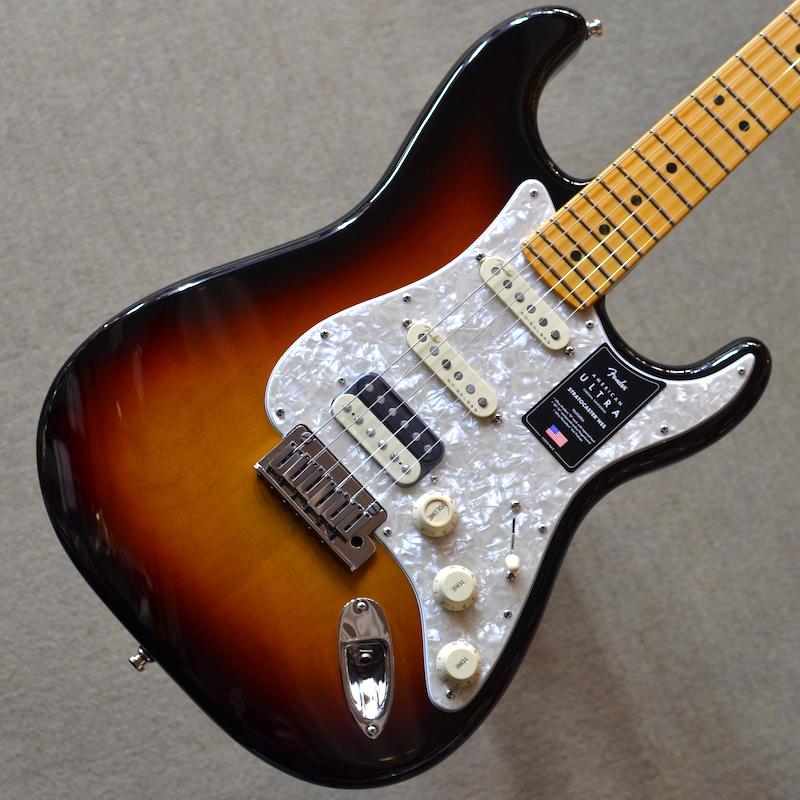 【新品】Fender American Ultra Stratocaster HSS Maple Fingerboard ~Ultraburst~ #US19072378 【3.63kg】【ミディアムジャンボフレット】【コンパウンドラジアス指板】【ノイズレスピックアップ】【コンター加工】【ロックペグ】【S1スイッチ】【USA製】【池袋店在庫品】