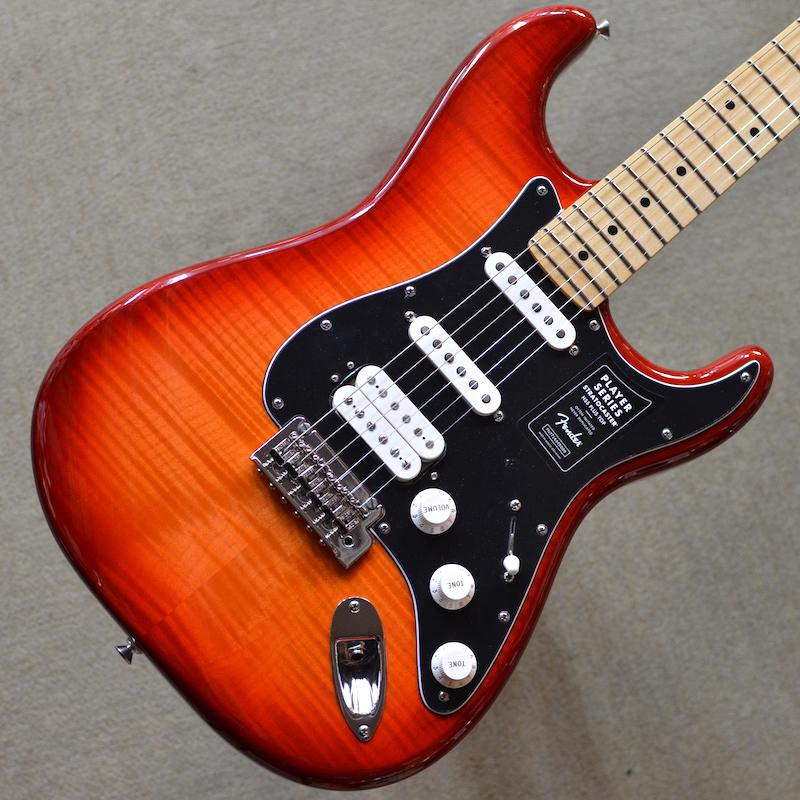 【新品】Fender Player Stratocaster HSS Plus Top Maple Fingerboard ~Aged Cherry Burst~ #MX20013913【3.70kg】【良杢個体】【フレイムメイプルトップ、アルダーバックボディ】【メイプル指板】【22ミディアムジャンボフレット】【9.5