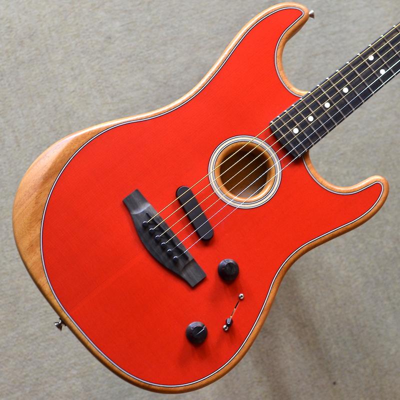 【新品】Fender American Acoustasonic Stratocaster ~Dakota Red~ 【次回入荷分予約受付中】【エレアコ】【エボニー指板】【ノイズレスピックアップ】【送料無料】【池袋店】
