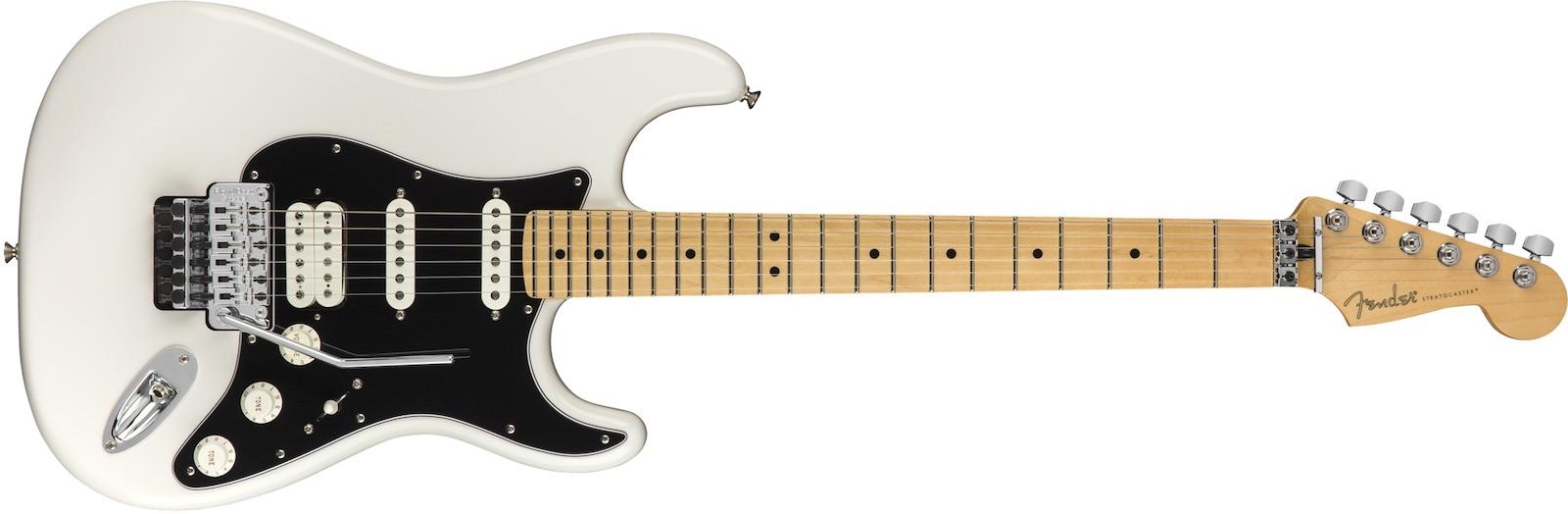 【新品】Fender Player Stratocaster Floyd Rose HSS Maple Fingerboard ~Polar White~【お取り寄せ】【送料無料】【池袋店】