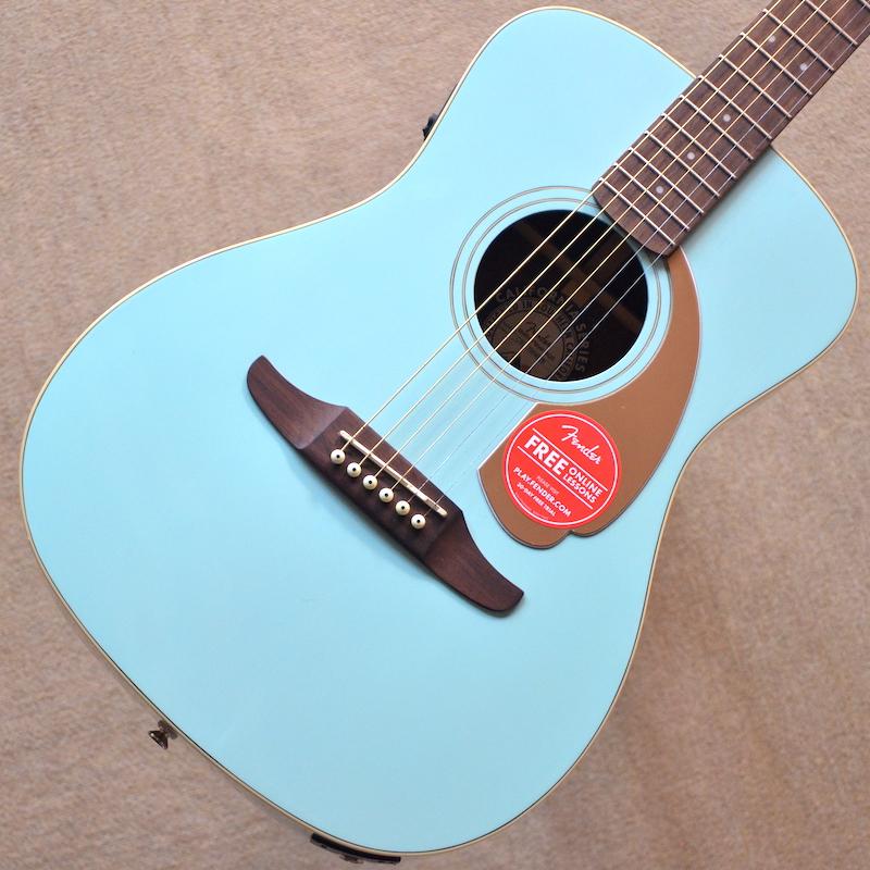 【新品特価】Fender Malibu Player ~Aqua Splash~ #CSL17004029 【1.91kg】【エレアコ】【パーラーサイズ】【チョイ傷特価】【送料無料】【池袋店在庫品】