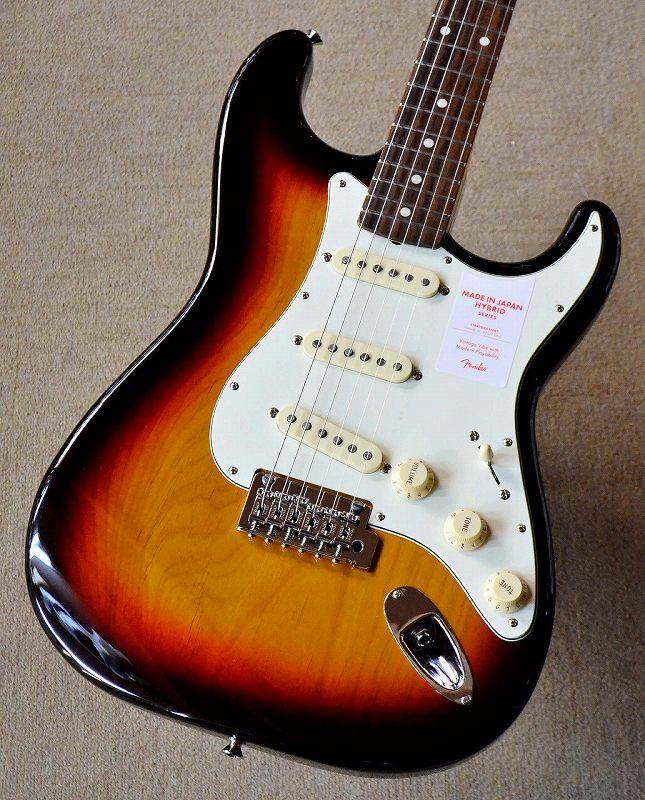 〔新品〕 Fender Made in Japan MIJ Hybrid 60s Stratocaster 3-Color Sunburst 【池袋店在庫品】