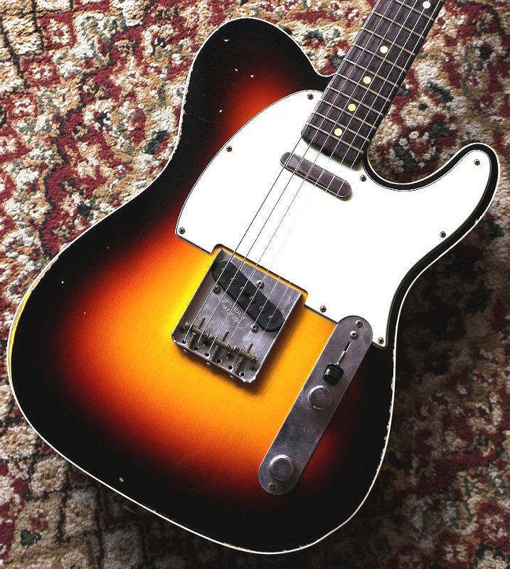 〔新品アウトレット〕 Fender Custom Shop Custom Built 1962 Telecaster Relic - Wide Rim 3CS - #CZ527865【3.38kg】【池袋店在庫品】