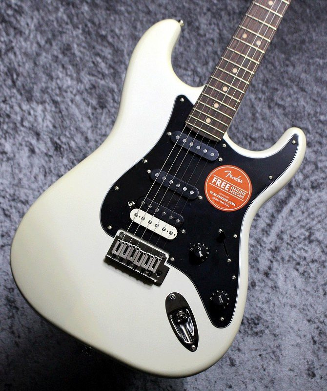 〔新品〕 Squier by Fender Contemporary Stratocaster HSS Pearl White 【池袋店在庫品】