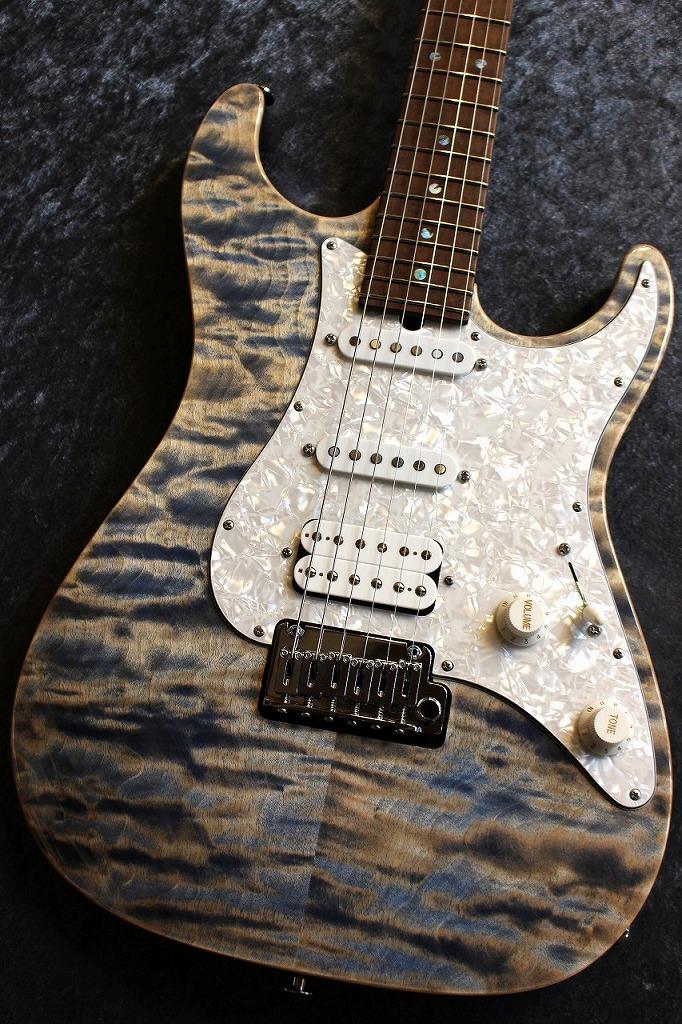 Suhr(並行輸入品ほか) Custom Standard 5A Birdseye Maple Neck Trans Blue Denim Slate 【良音・良杢個体】【ワイド杢個体】【池袋店在庫品】