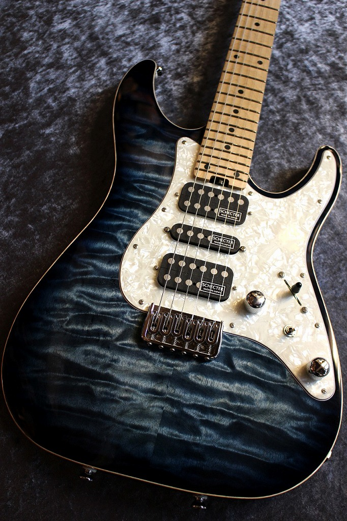 SCHECTER SD-DX-24-FXD-AS Blue Natural Sunburst/Maple #161003 【良杢個体】【限定モデル】【ノントレモロ仕様】【池袋店在庫品】