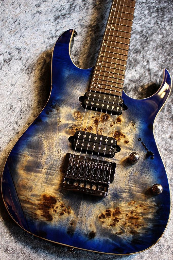 Ibanez Premium Series RG1027 PBF Cerulean Blue Burst # I170708604【良杢トップ&ヘッド】【池袋店在庫品】