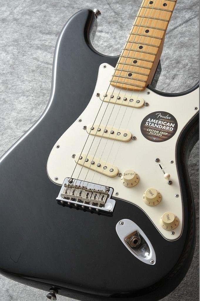 Fender American Standard Stratocaster Maple/Black #14080960【定番モデル】【生産完了】 【新品】【池袋店在庫品】
