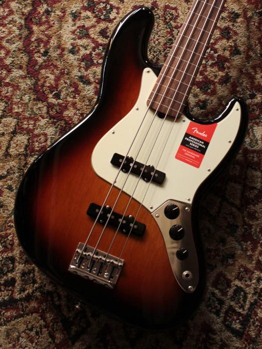 Fender American Professional Jazz Bass FL 3TS/R【フレットレス】【アウトレット大特価】【新品】【池袋店在庫品】