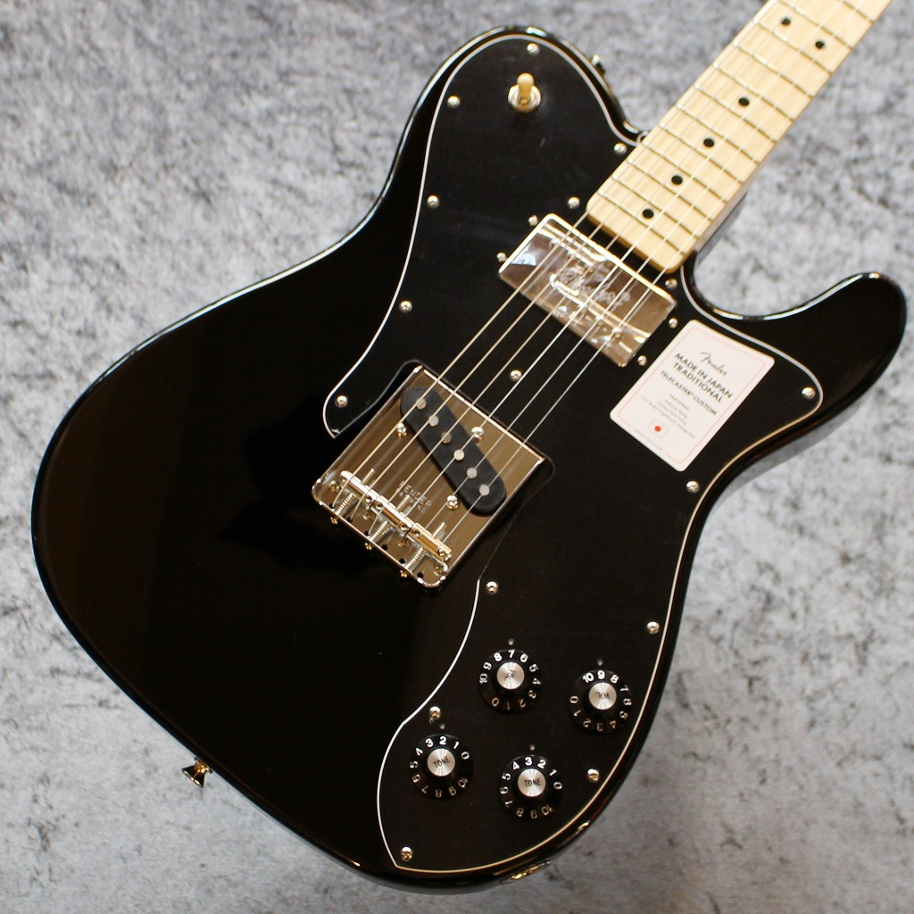 Fender【2020年最新スペック】Made in Japan Traditional 70s Telecaster Custom Black #JD20004778【3.74kg】【池袋店在庫品】