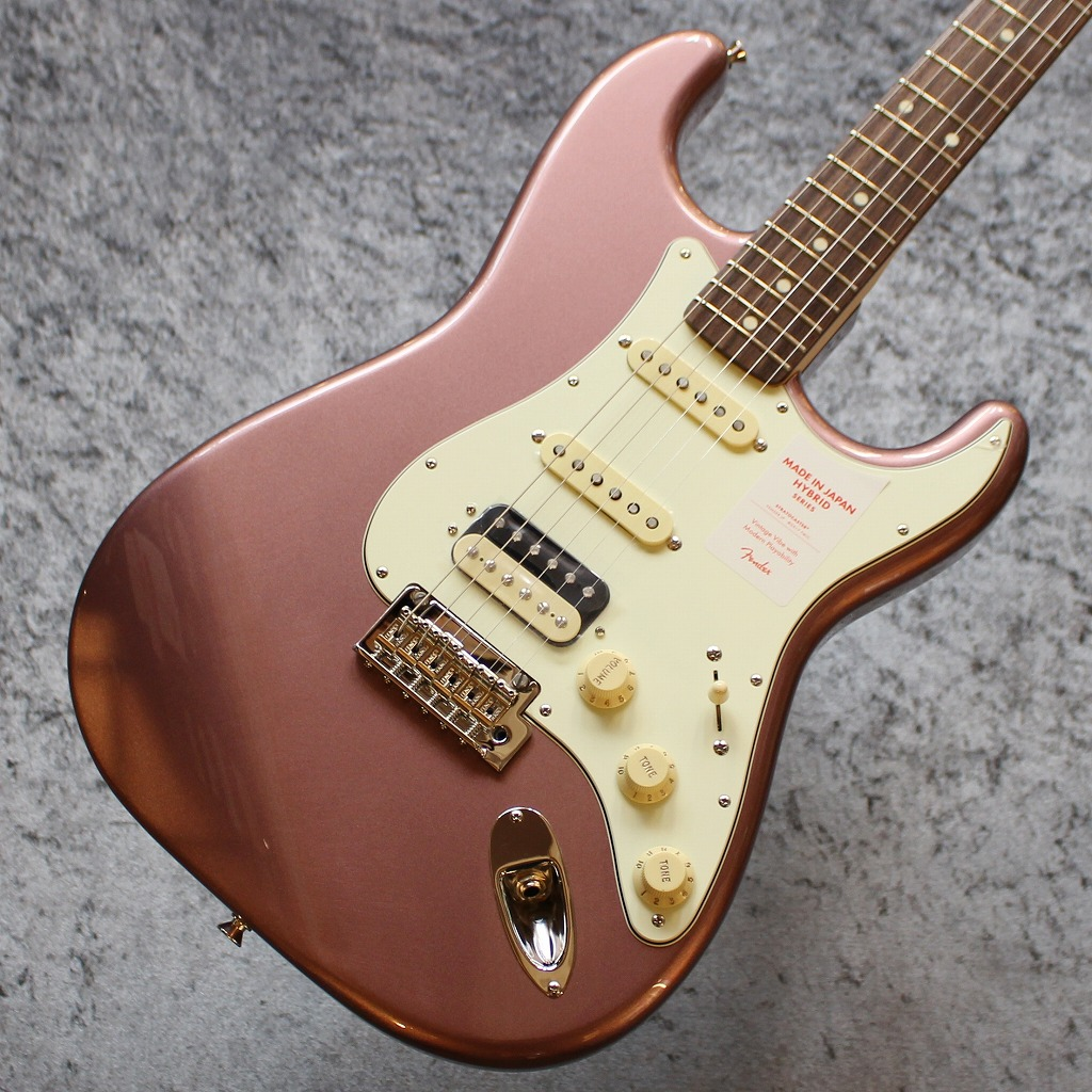 Fender Made In Japan Hybrid 60s Stratocaster HSS Burgundy Mist Metallic #JD19014369【3.75kg】【池袋店在庫品】