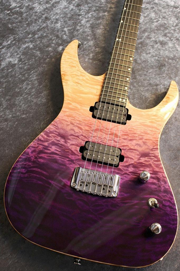Acacia Guitars Hades Modern Quilted Maple Top Peach Dip #2033 【2020NAMM SHOW現地選定品】【スルーネック】【ロングスケール】【激杢個体】【池袋店在庫品】
