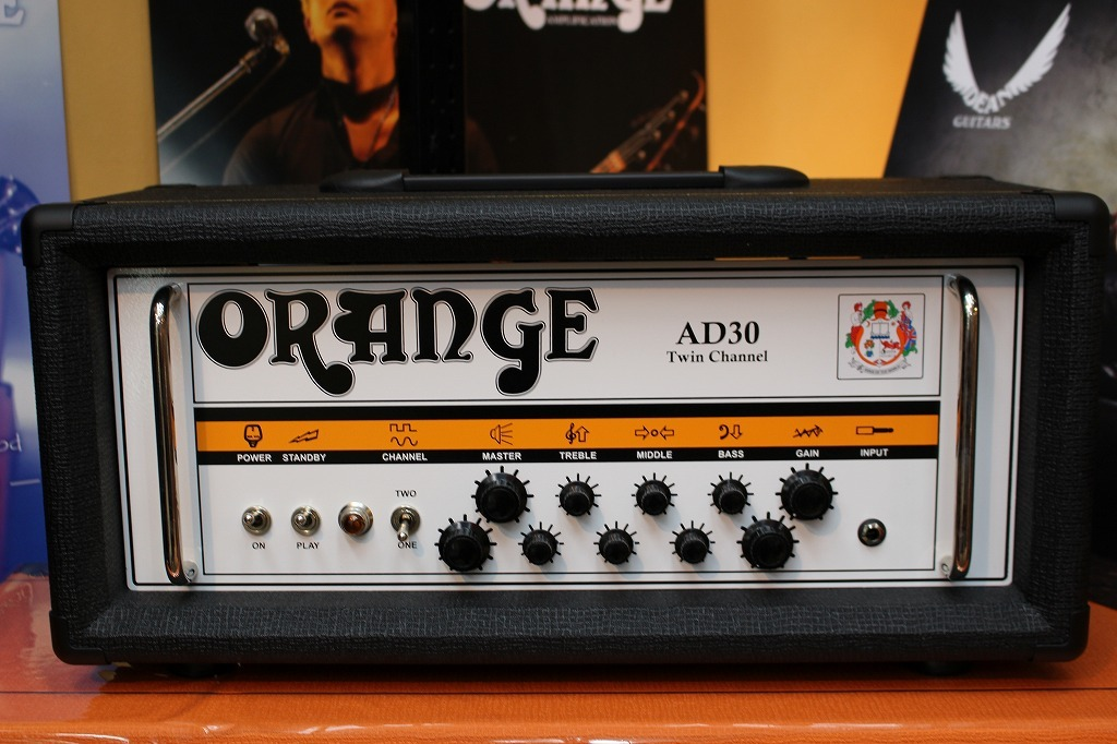 ORANGE AD30HTC/Black (ALL VALVE, 30 WATT, CHANNEL SWITCHING HEAD) 【送料無料】【Made in UK】 【新品】【池袋店在庫品】
