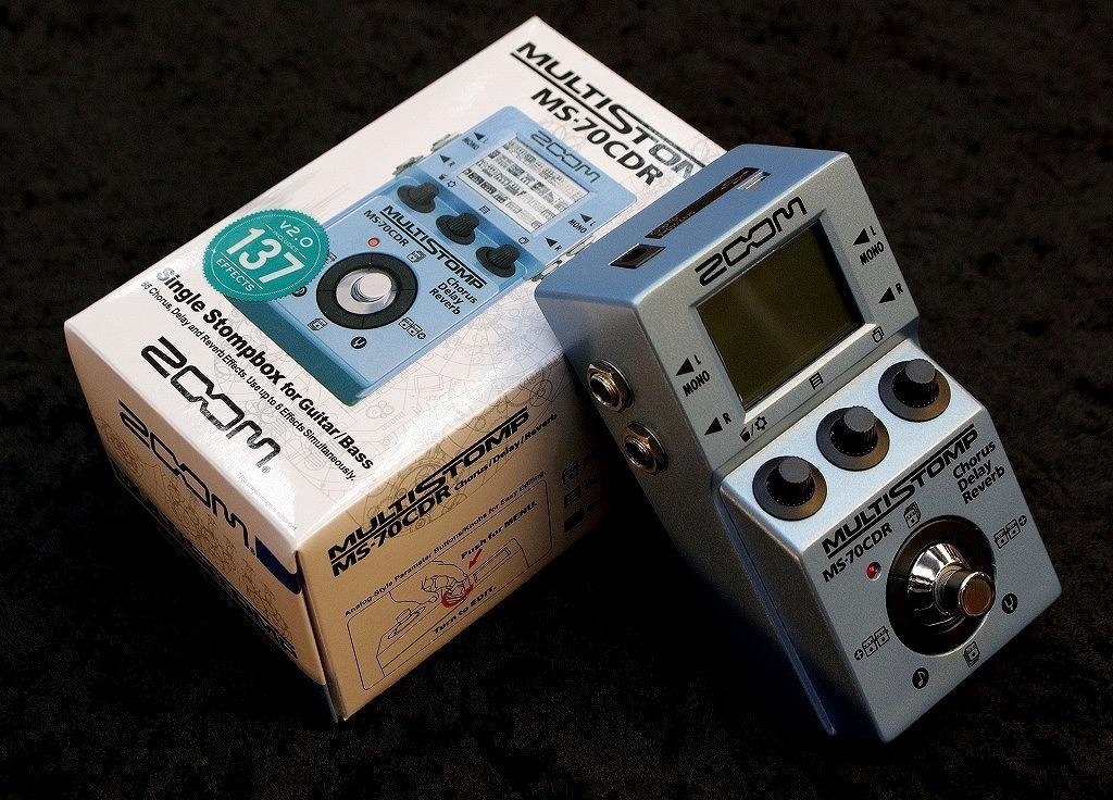ZOOM MS-70CDR Chorus / Delay / Reverb Pedal【空間系マルチエフェクター!】【即納可能】【送料無料】【池袋店在庫品】