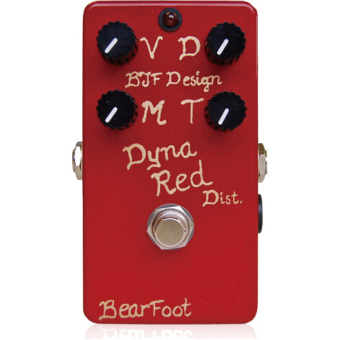 BearFoot Guitar Effects Dyna Red Dist. 4ノブ《エフェクター/ディストーション》【送料無料】【お取り寄せ】【ONLINE STORE】