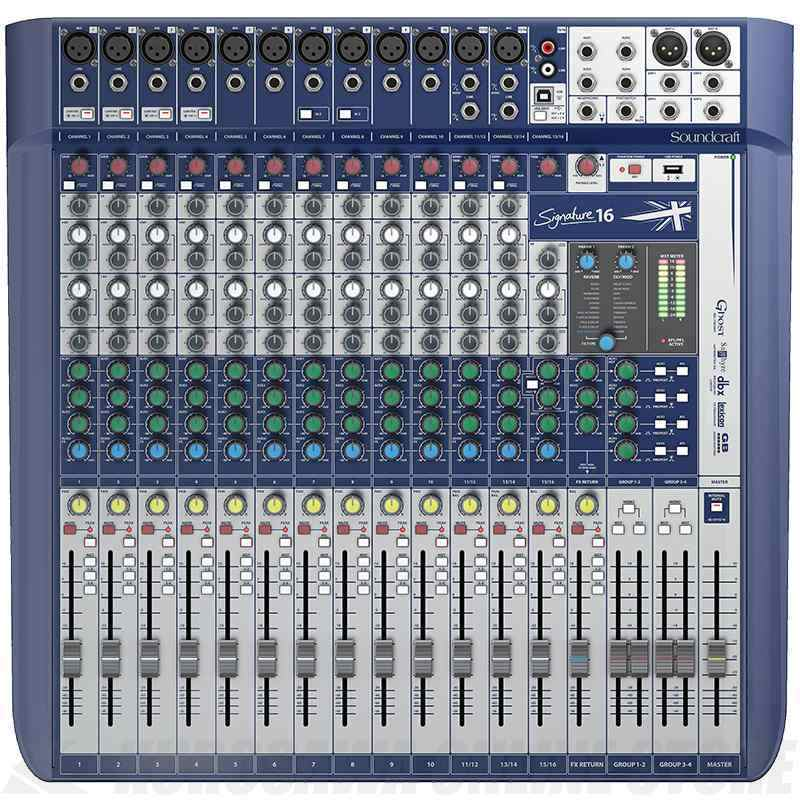 Soundcraft Signature Series スタンダードモデル Signature 16 《16ch アナログミキサー》【送料無料】【ご予約受付中】【ONLINE STORE】