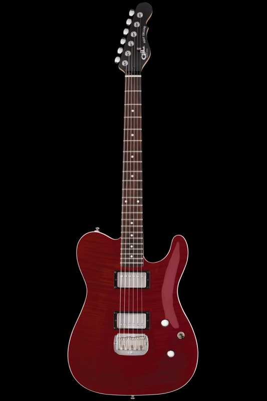 G&L Tribute ASAT Deluxe 'Carved Top'(Trans Red / Rosewood)《エレキギター》【送料無料】【ONLINE STORE】