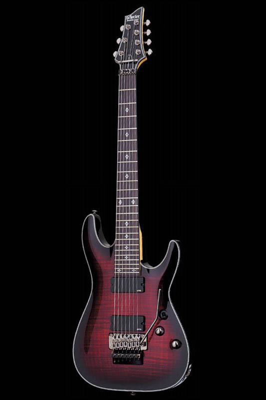 Schecter Diamond Series DAMIEN ELITE-7 FR (Crimson Red Burst) [AD-DM-EL-7-FR / CRB] 《エレキギター》【送料無料】【ONLINE STORE】