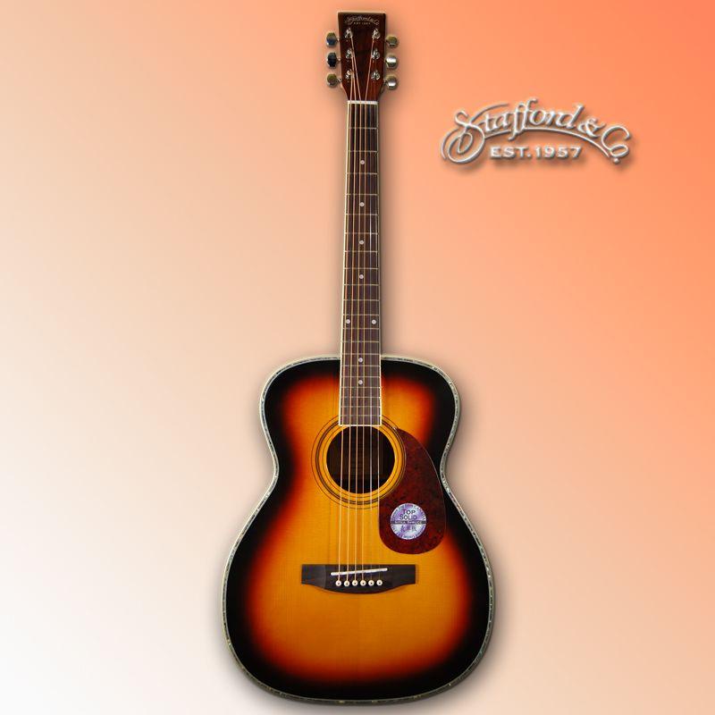 Stafford SF-400F-BS (ブラウンサンバースト)《アコースティックギター》【送料無料】【ONLINE STORE】