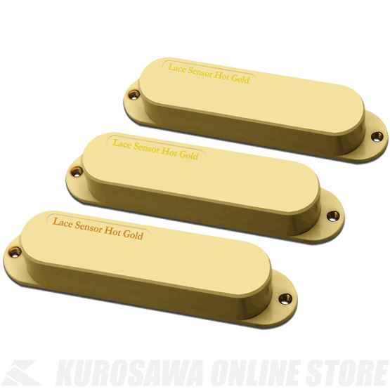 LACE MUSIC PICKUPS Single-Coil size Hot Golds Hot Bridge Set (CREAM) 《ピックアップ/シングルコイルタイプ》【送料無料】【ONLINE STORE】