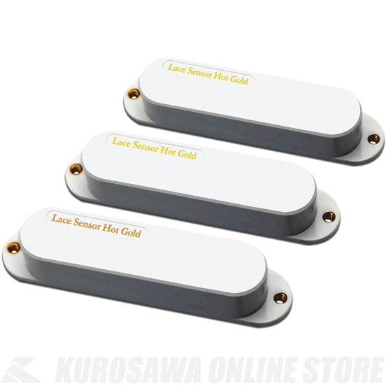 LACE MUSIC PICKUPS Single-Coil size Hot Golds Hot Bridge Set (WHITE) 《ピックアップ/シングルコイルタイプ》【送料無料】【ONLINE STORE】
