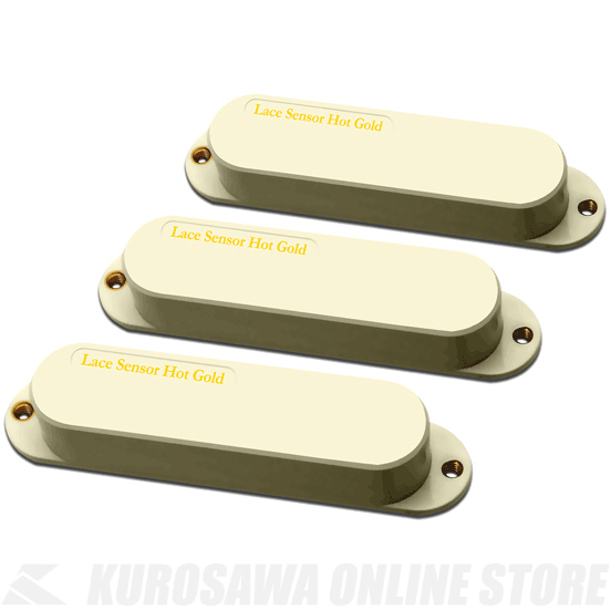 LACE MUSIC PICKUPS Single-Coil size Hot Gold Set (CREAM) 《ピックアップ/シングルコイルタイプ》【送料無料】【ONLINE STORE】