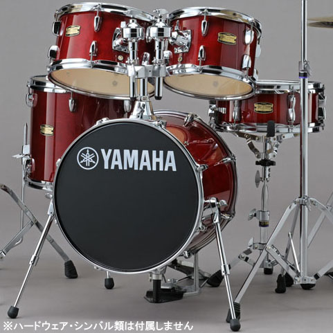 YAMAHA コンパクトドラムキット ジュニアキット 小口径5点セット Manu Katche Model Junior Kit [JK6F5CR](クランベリーレッド)【送料無料】【ONLINE STORE】