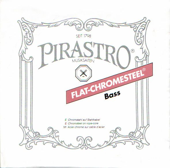 Pirastro ''FLAT-CHROME STEEL''【4E】【新品】【日本総本店在庫品】