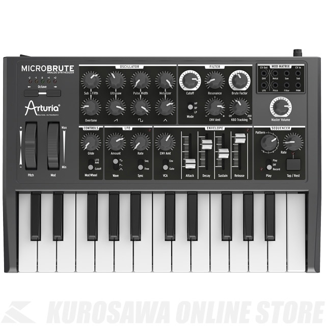 ARTURIA MICROBRUTE 《アナログシンセサイザー》【送料無料】【ONLINE STORE】
