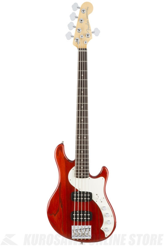Fender American Elite Dimension Bass V HH, Rosewood Fingerboard, Cayenne Burst 《ベース/ディメンションベース》【送料無料】【ONLINE STORE】