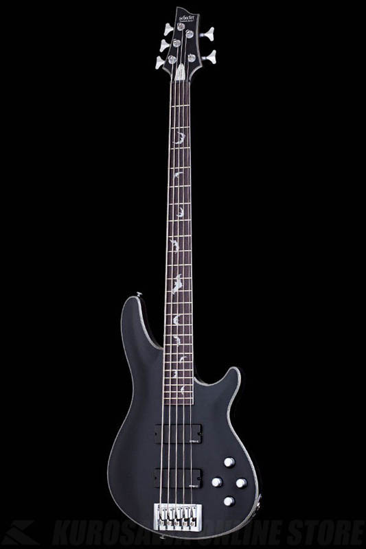 Schecter Diamond Series DAMIEN PLATINUM 4 Satin Black(SBK)[AD-DM-PTM-5/SBK]《5弦ベース》【送料無料】【ONLINE STORE】