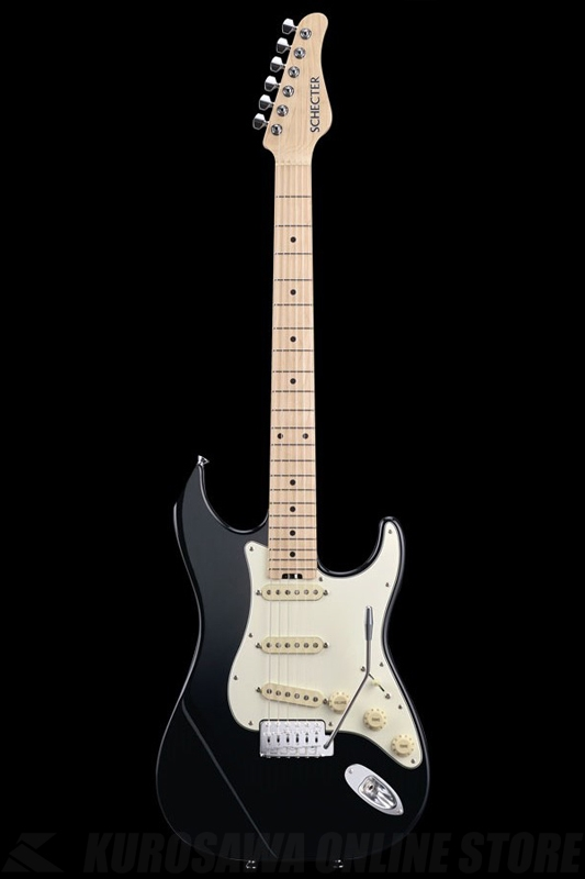 SCHECTER N Series N-ST-AS-BLK (Black / Maple)《エレキギター》【送料無料】【ONLINE STORE】