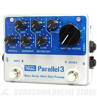Trial Parallel 3 / Buffer / Mluti GAIN PREANP 《エフェクター/バッファー/プリアンプ》【送料無料】【ONLINE STORE】