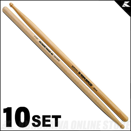 Rohema Percussion Rounded Tip Series Round Tip - SD4-H Hickory [61327/2] 《ドラムスティック》【10セット】【送料無料】【ONLINE STORE】