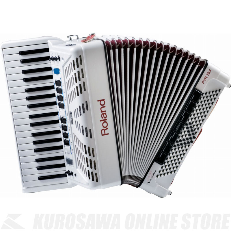 Roland V-Accordion FR-3X WH (White) 《電子アコーディオン》 【送料無料】【ONLINE STORE】