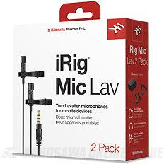 IK Multimedia iRig Mic Lav 2 Pack (ピンマイク)(送料無料)【ONLINE STORE】