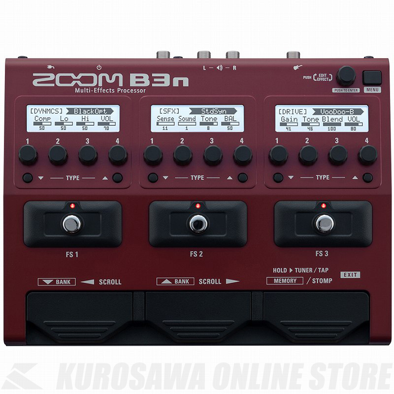 ZOOM Multi-Effects Processor B3n 《ベース用マルチエフェクター》【送料無料】【ONLINE STORE】