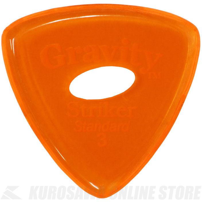ピック 《グラヴィティギターピックス》 ◆在庫限り◆ GRAVITY GUITAR PICKS GSRS3PE 3.0 mm with STORE 売買 Grip Orange ネコポス 《ピック》 Hole Elipse ONLINE