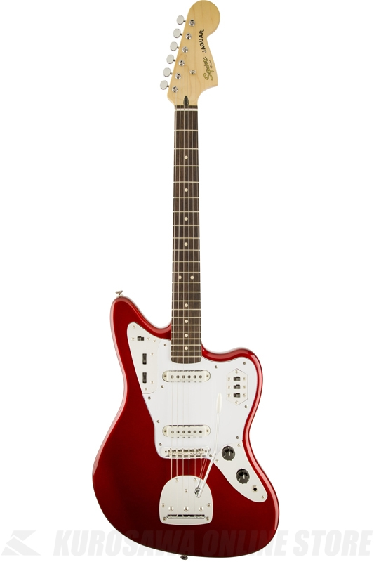 Squier Vintage Modified Jaguar (Candy Apple Red/Rosewood)《エレキギター/ジャガー》【送料無料】【ONLINE STORE】