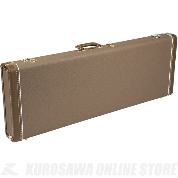 Fender Multi-Fit Hardshell Cases- Jaguar /Jazzmaster (Brown with Gold Plush Interior)《ギター用ハードケース》【送料無料】【ONLINE STORE】