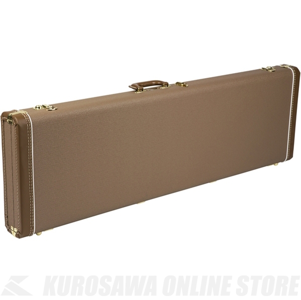 Fender Jazz Bass Multi-Fit Hardshell Cases (Brown with Gold Plush Interior)《ベース用ハードケース》【送料無料】【ONLINE STORE】