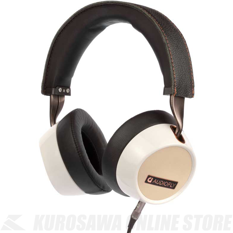 Audiofly Over-Ear Headphones AF240 White w/mic [AF2401-1-02] (ヘッドフォン)(送料無料) 【ONLINE STORE】