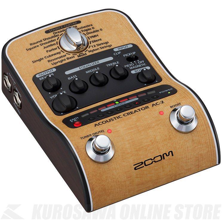 ZOOM AC2 Acoustic Creator (アコースティックギター用DI/プリアンプ)(送料無料) 【ONLINE STORE】
