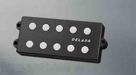 Delano Pickup MM style 5 / 9,5 mm ferrite MC 5 FE 1700 dual coil humbucker p.p spacing 17mm (ベース用ピックアップ)(送料無料) 【ONLINE STORE】