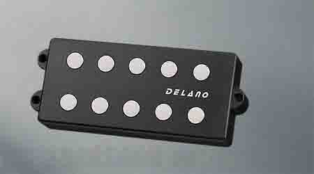 Delano Pickup MM style 5 / 9,5 mm ferrite MC 5 FE /J double twin coil in-line humcanceller (quad coil ) (ベース用ピックアップ)(送料無料) 【ONLINE STORE】