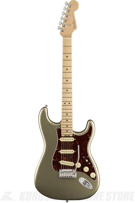 Fender American Elite Stratocaster , Maple Fingerboard, Champagne (エレキギター/ストラトキャスター)(送料無料) 【ONLINE STORE】【2017冬キャンペーン】