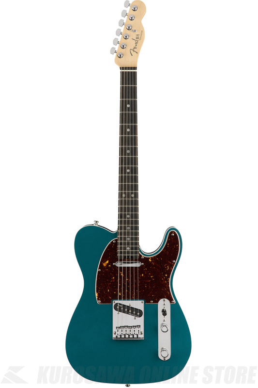 STORE】 【ONLINE American (エレキギター/テレキャスター)(送料無料) Fingerboard, Fender Ebony , Ocean Elite Telecaster Turquoise