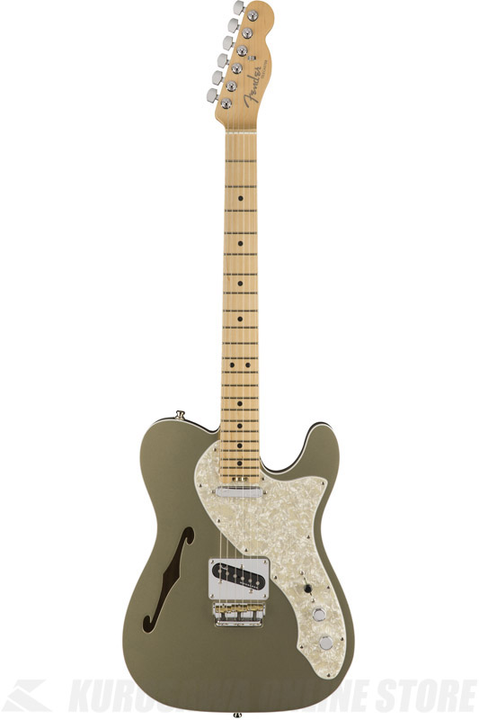 Fender American Elite Telecaster Thinline, Maple Fingerboard, Champagne (エレキギター/テレキャスター)(送料無料) 【ONLINE STORE】