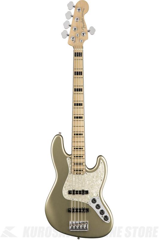 Fender American Elite Jazz Bass V, Maple Fingerboard, Champagne (5弦ベース/ジャズベース)(送料無料) 【ONLINE STORE】【2017冬キャンペーン】